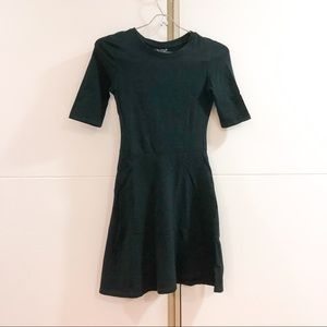 Topshop black mock neck skater dress